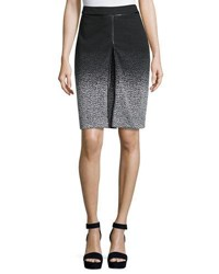 Republic Clothing Group Chevron Pattern A Line Skirt Black Grey