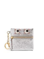 Anya Hindmarch Eyes Crinkled Leather Coin Purse Silver