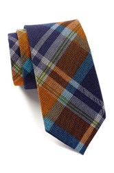 Ben Sherman Plaid Tie Orange