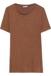 American Vintage Woman Albaville Slub Jersey T Shirt Light Brown