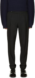 Carven Black Cropped Wool Trousers