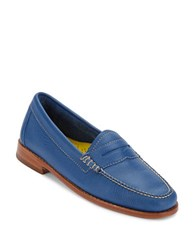 G.H. Bass Whitney Leather Penny Loafers Cobalt Blue