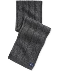 Nautica Men's Solid Cable Scarf Granite Heather