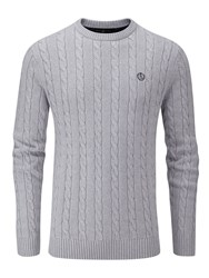 Henri Lloyd Men's Kramer Regular Crew Neck Knit Jumper Grey Marl
