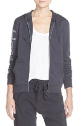 Women's Happiness Embellished Zip Front Hoodie