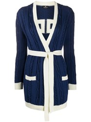 Elisabetta Franchi Cable Knit Belted Cardigan 60