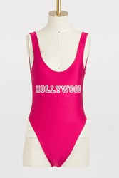 Private Party Hollywood One Piece Swimsuit Raspberry