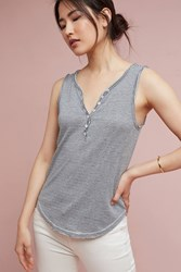 Anthropologie Henley Tank Dark Grey
