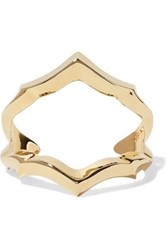 Jennifer Fisher Crystal Gold Plated Cuff One Size