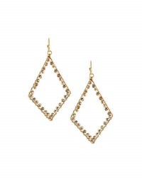 Panacea Crystal Diamond Silhouette Drop Earrings Gold