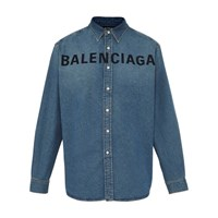 Balenciaga Logo Denim Shirt 4065