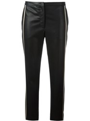 N 21 No21 Leather Effect Cropped Trousers Black