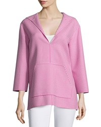 Michael Kors Hooded Mini Check Tunic Geranium Women's
