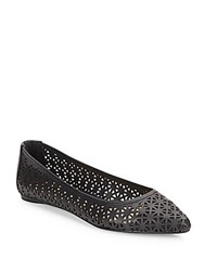 Joe's Jeans Pixie Laser Cut Flats Black