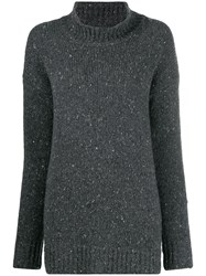 Liska Speckled Knit Jumper Grey