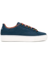 Etro Contrast Lace Sneakers Blue