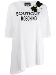 Boutique Moschino Bow Embellished T Shirt White