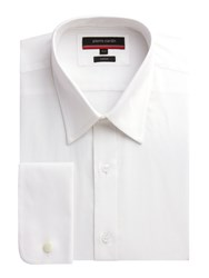 Pierre Cardin Men's Classic Fit Long Sleeve Classic Collar Shirt White