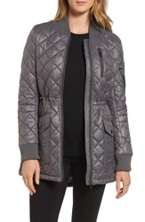 French Connection Women's Quilted Anorak Jacket Slate