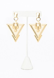 Missguided Gold Lucretia Tribal Style Earrings Gold