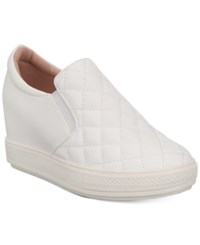 Wanted Bushkill Wedge Slip On Sneakers Women's Shoes White