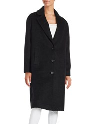 Jones New York Long Sleeve Textured Coat Black