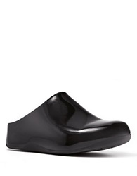 Fitflop Shuv Tm Patent Leather Clogs Black