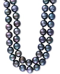 Effy Cultured Tahitian Pearl 10Mm 34 Inch Long Strand Necklace Black