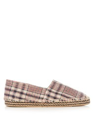 Isabel Marant Etoile Canaee Checked Canvas Espadrilles White Multi
