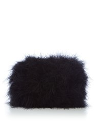 Issa Marabou Feather Clutch Black