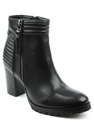 Daniel Derwentwater High Stacked Ankle Boots Black