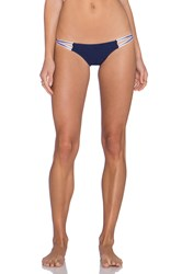 Blue Life American Woman Cheeky Bikini Bottom Blue