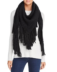 Fraas Cable Knit Triangle Scarf Black