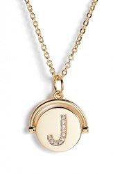 Lulu Dk Women's Love Letters Initial Spinning Pendant Necklace Gold J