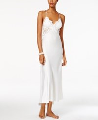 Flora Nikrooz Farrah Lace Trimmed Charmeuse Nightgown Ivory