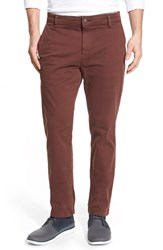 Men's Mavi Jeans 'Edward' Twill Chinos Burgundy