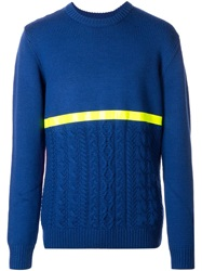 House Of Holland Contrast Panelled Sweater Blue