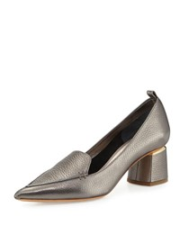 Nicholas Kirkwood Beya Leather Loafer Pump Pewter