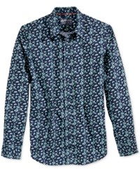 American Rag Men's Floral Print Shirt Only At Macy's Navy