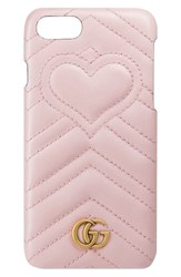 Gucci Gg Marmont Leather Iphone 7 Case Pink Perfect Pink