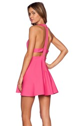 Nbd X Naven Twins Te Amo Fit And Flare Dress Pink
