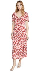 Minkpink Between You And I Midi Dress Red White