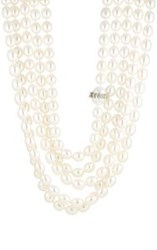 Cathy Waterman Women's Five Strand Pearl Necklace Colorless