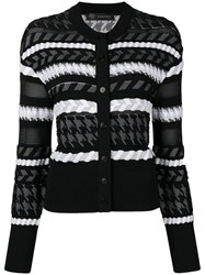 Versace Knitted Buttoned Cardigan Black