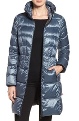 Bernardo Women's Packable Coat With Down And Primaloft Fill Ice Cove Nightshade