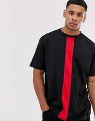 Another Influence Cut And Sew Boxy T Shirt Black