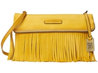 Frye Heidi Fringe Crossbody Lemon Soft Vintage Leather Cross Body Handbags Yellow