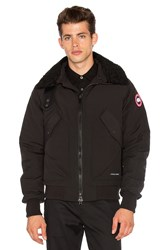 Canada Goose Bromley Dyed Sheep Fur Collar Bomber Black