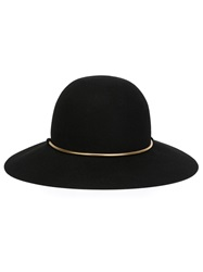 Lanvin Golden Chain Hat Black