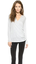 Lanston Longsleeve Surplice Top Heather